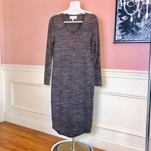 Philosophy space dyed long sweater dress